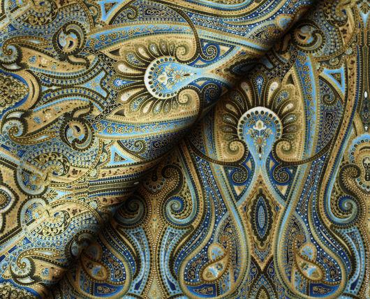 Шитье ручной работы. Ярмарка Мастеров - ручная работа. Купить Ткань для пэчворка Majesty. Handmade. Цветы, растительный орнамент