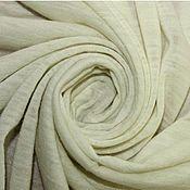 Ткани ручной работы. Ярмарка Мастеров - ручная работа 400руб/метр. Тонкий молочный трикотаж. Handmade.
