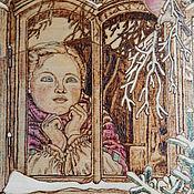 """Картины и панно ручной работы. Ярмарка Мастеров - ручная работа Картина """"Зимняя сказка"""" (2). Handmade."""
