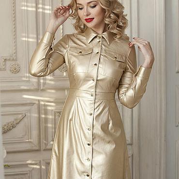 """Одежда ручной работы. Ярмарка Мастеров - ручная работа Платье """"Gold metallic"""". Handmade."""