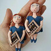 Куклы и игрушки ручной работы. Ярмарка Мастеров - ручная работа Фигурка Бухгалтер (финансист). Handmade.