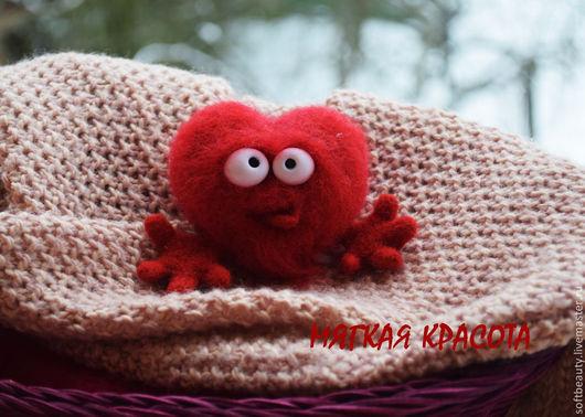 """Подарки для влюбленных ручной работы. Ярмарка Мастеров - ручная работа. Купить Подарок на 14 февраля игрушка войлочная """"Дикое сердце"""". Handmade."""