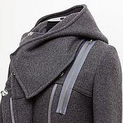 Одежда handmade. Livemaster - original item Winter coat Asymmetry, wool. Handmade.