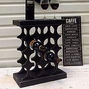 Для дома и интерьера ручной работы. Ярмарка Мастеров - ручная работа Столик подставка для вина. Handmade.