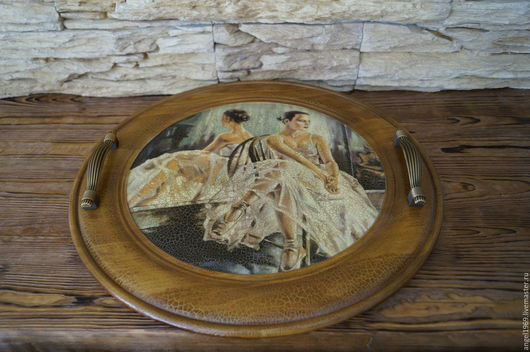 Кухня ручной работы. Ярмарка Мастеров - ручная работа. Купить Поднос круглый  Волшебство балета. Handmade. Поднос, поднос для завтрака