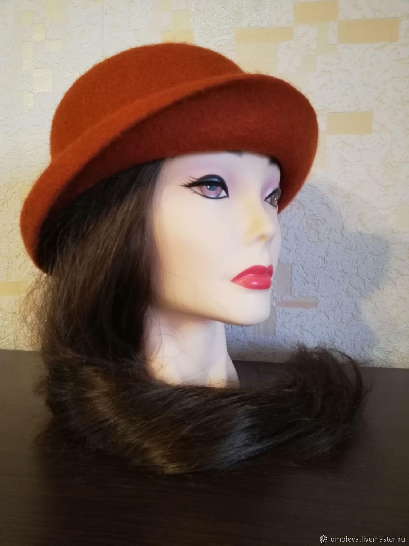 Hat felted Terracotta color, Hats1, Minsk,  Фото №1