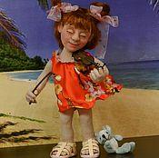 Портретная кукла ручной работы. Ярмарка Мастеров - ручная работа видео мастер класс. Handmade.