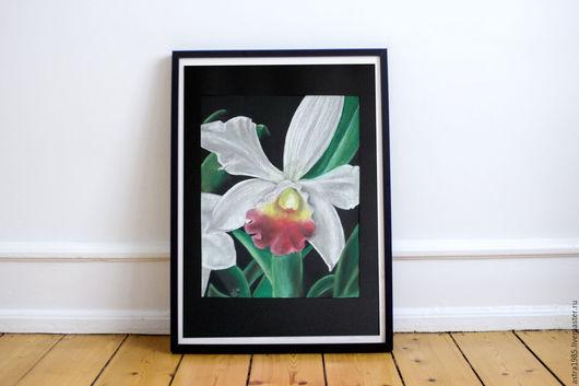Картины цветов ручной работы. Ярмарка Мастеров - ручная работа. Купить Орхидея. Handmade. Цветок, орхидея