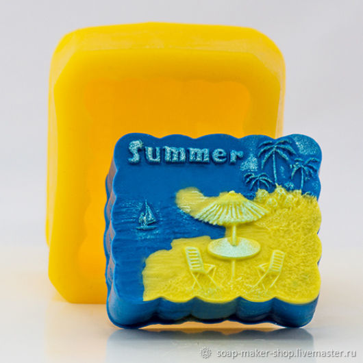 Silicone mold for soap 'Summer', Form, Shahty,  Фото №1