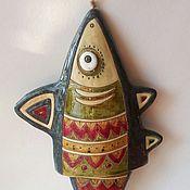 """Колокольчик  керамический  """"Рыбка"""""""