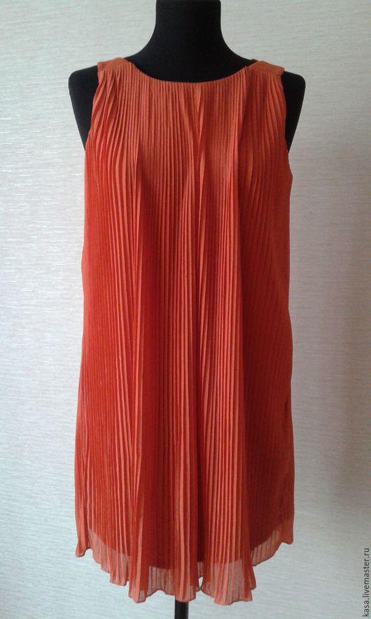Платья ручной работы. Ярмарка Мастеров - ручная работа. Купить Плиссированное платье - туника. Handmade. Рыжий, платье для беременных, плиссе