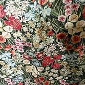 Ткань гобеленовая-  цветочное танго