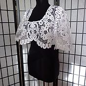 """Одежда ручной работы. Ярмарка Мастеров - ручная работа Болеро""""Фигаро""""белое.. Handmade."""