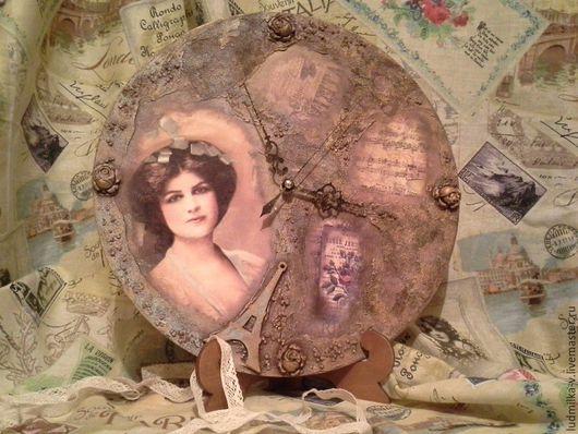 """Часы для дома ручной работы. Ярмарка Мастеров - ручная работа. Купить Винтажные часы """" Старый Париж """". Handmade."""