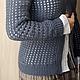 """Пиджаки, жакеты ручной работы. Ярмарка Мастеров - ручная работа. Купить Жакет """"Дымчатая клеточка"""". Handmade. Вязание крючком, вязанный"""