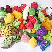 """Куклы и игрушки ручной работы. Ярмарка Мастеров - ручная работа Счетный набор""""Овоши и фрукты"""".. Handmade."""