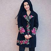 Одежда handmade. Livemaster - original item Elegant coat with embroidery