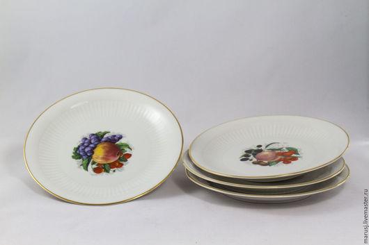 Винтажная посуда. Ярмарка Мастеров - ручная работа. Купить Небольшие десертные тарелочки, Германия. Handmade. Белый, десертные тарелки