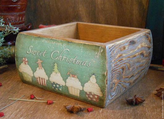 Короб для сладостей,фруктов,рождественской выпечки...Кухня в стиле кантри. `LedaksDecor`.