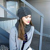 Аксессуары ручной работы. Ярмарка Мастеров - ручная работа Комплект шапка и снуд. Handmade.