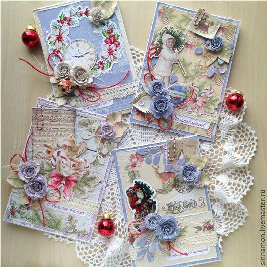 Комплект из четырех новогодних открыток стоит 1 000 руб.