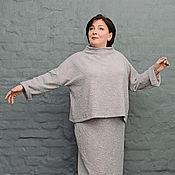 Одежда handmade. Livemaster - original item Suit gray-pink marLED. Art. 1268/1266. Handmade.