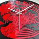 """Часы для дома ручной работы. Часы """"Феникс"""". Штина Алёна (alenushkashtina). Интернет-магазин Ярмарка Мастеров. Часы, часы из стекла"""