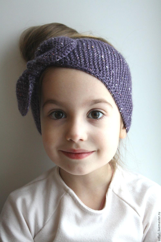 Вязаная повязка на голову для девочки (36 фото детские) 62