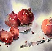 Картины и панно handmade. Livemaster - original item Painting watercolor. still life with pomegranates. Handmade.
