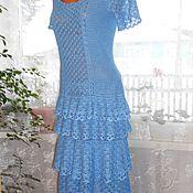 """Одежда ручной работы. Ярмарка Мастеров - ручная работа Платье """"Песнь водопада"""" По фото моделей Ванессы Монторо. Handmade."""