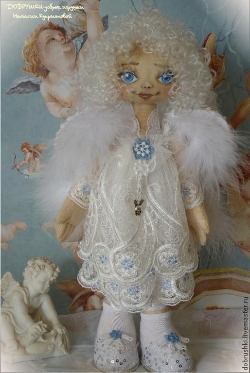 Ангел хранитель-Настенька. Текстильная кукла.33см Наталия Куприянова.