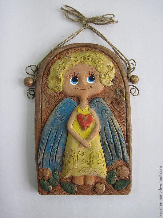 Символизм ручной работы. Ярмарка Мастеров - ручная работа. Купить Солнечный Ангел. Handmade. Керамика, ангел, солнечный