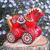 """Куклы и игрушки ручной работы. Ярмарка Мастеров - ручная работа Деревянная игрушка, игрушка из дерева, русская игрушка """"Лошадка"""". Handmade."""