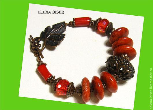 браслет красный кораллы  авторский браслет  стильный браслет  натуральный браслет  браслет подарок  браслет маме  браслет сестре  браслет жене  браслет купить  браслет фото  недорогой браслет  браслет