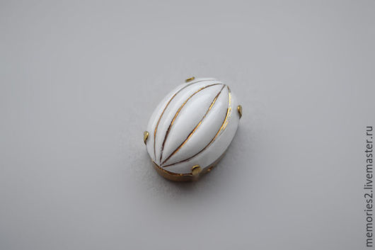 Для украшений ручной работы. Ярмарка Мастеров - ручная работа. Купить Винтажные стразы 18х13 мм цвет Gold melon. Handmade.
