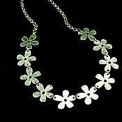 Украшения handmade. Livemaster - original item Necklace flowers made of Nickel silver with silver plating. Handmade.