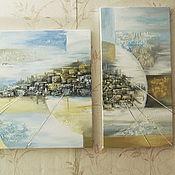 Картины и панно ручной работы. Ярмарка Мастеров - ручная работа Аркаим триптих. Handmade.
