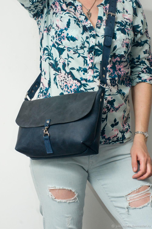 Shoulder bag, genuine leather, with carabiner, Crossbody bag, Stavropol,  Фото №1