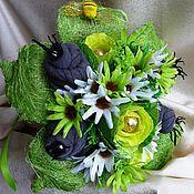 Подарки к праздникам ручной работы. Ярмарка Мастеров - ручная работа Букет из мужских носков и конфет Салатовый. Handmade.