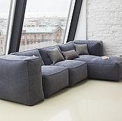 Для дома и интерьера ручной работы. Ярмарка Мастеров - ручная работа Модульный диван с подлокотниками-пуфами. Handmade.