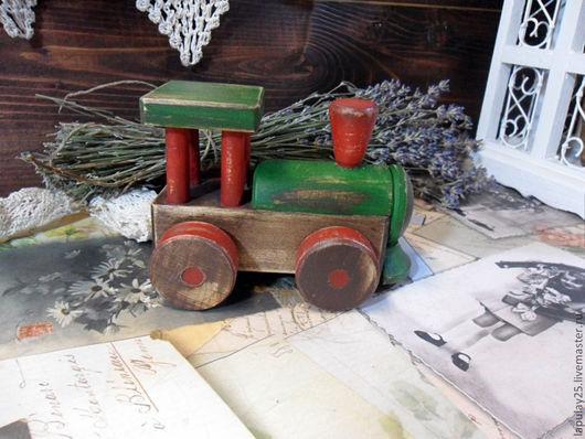 """Детская ручной работы. Ярмарка Мастеров - ручная работа. Купить """"Паровозик из детства"""" игрушка. Handmade. Паровозик, игрушка для детей, для детей"""