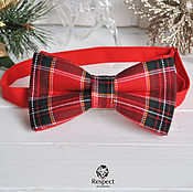 Аксессуары handmade. Livemaster - original item Tie Royal Stewart / red butterfly, tartan, plaid. Handmade.