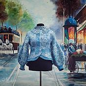 Одежда ручной работы. Ярмарка Мастеров - ручная работа Шубка Эко мех Голубая каракульча. Handmade.