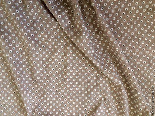 Шитье ручной работы. Ярмарка Мастеров - ручная работа. Купить Ткань хлопок премиум Мелкая ромашка на кофе( прованс, шебби,кантри). Handmade.