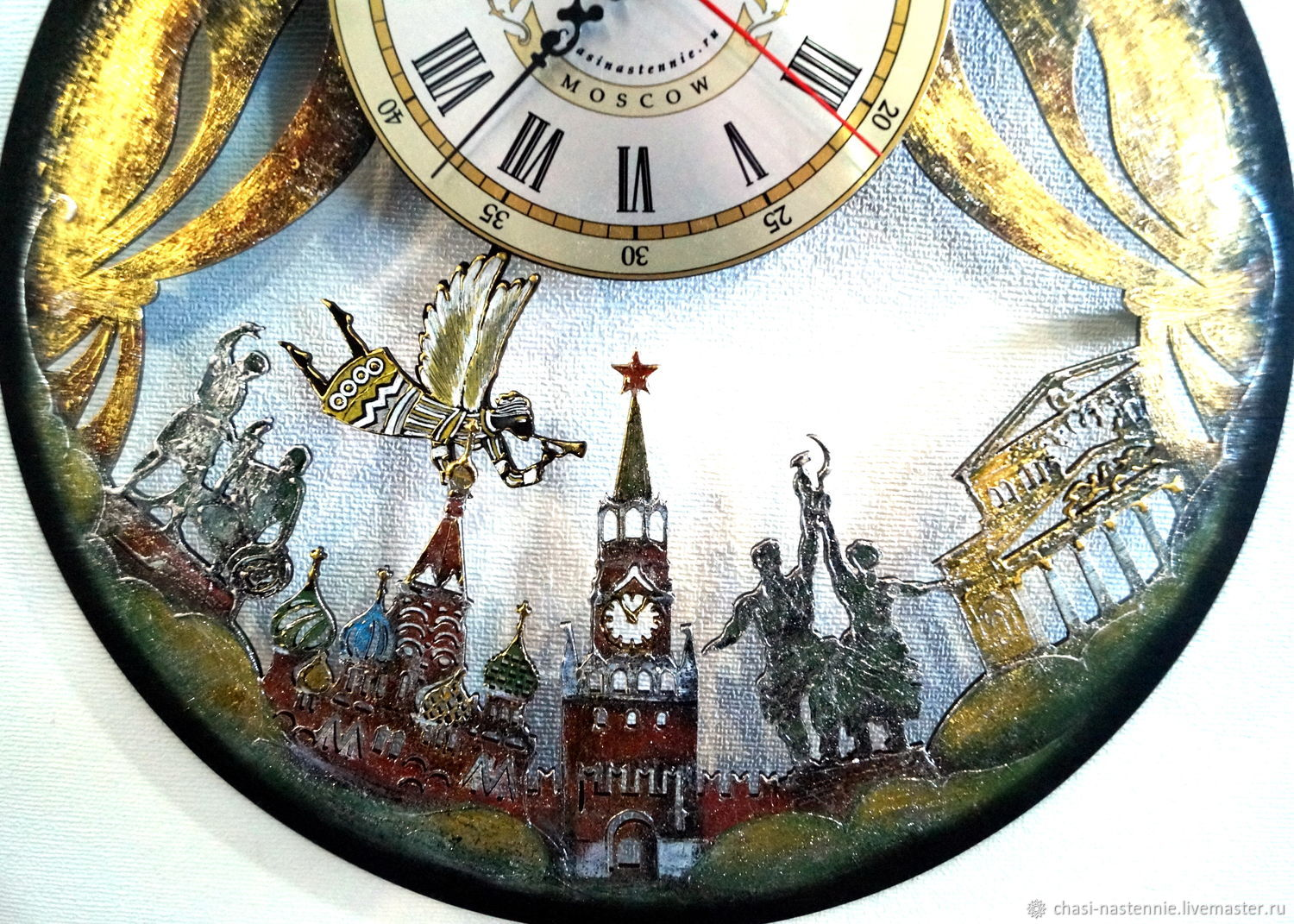 Wall clock Moscow, a gift for all travelers, Watch, St. Petersburg,  Фото №1