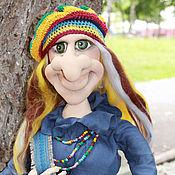 Stuffed Toys handmade. Livemaster - original item Baba Yaga in hippie style.. Handmade.