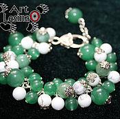 Bead bracelet handmade. Livemaster - original item Unsized bracelet with aventurine and capalonga. Handmade.