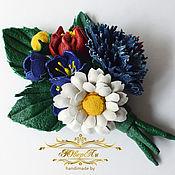 Цветы и флористика handmade. Livemaster - original item Summer flowers bouquet of leather