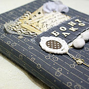 Канцелярские товары ручной работы. Ярмарка Мастеров - ручная работа Нежный блокнот в серых тонах. Handmade.