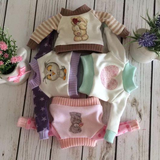 Одежда для кукол ручной работы. Ярмарка Мастеров - ручная работа. Купить Свитшот для кукол. Handmade. Свитшот, одежда для кукол, трикотаж